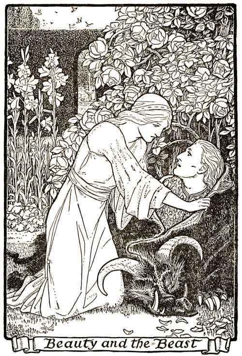 Beauty and the Beast by John D. Batten (1916)