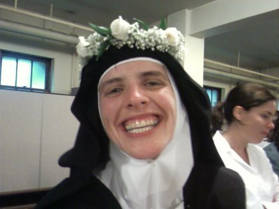 Sister Agnes Marie of the Eternal High Priest! (She's the extern sister at the Carmel in Buffalo, NY)
