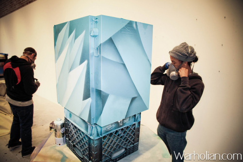 Red Bull's Canvas Cooler project brings top Bay Area talent to 941 Geary Gallery - photos by Michael Cuffe for Warholian by WarholianPics on Flickr.