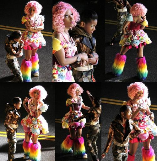 Willow Smith and Niki Minaj Fireball video