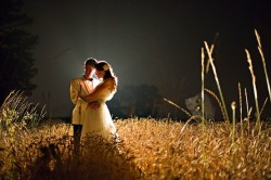 wedding photos at night? very cool