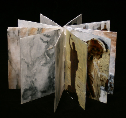 Carousel Book 2010/2011 Plexi Glass, Decal Paper, Gesso, Words from Books, Waxed String Claudia Wilburn