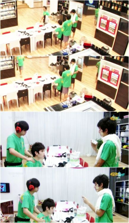 "massage time!!  i think Kacha is so cute >.< he's look like a little cat   so ..i call this pic …….""catty spa"""