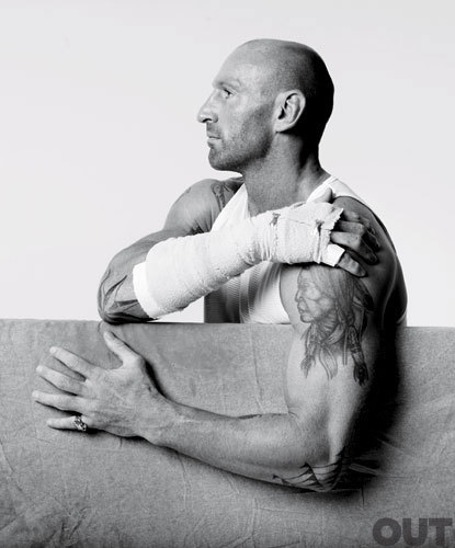 Gareth Thomas, Rugby Player  In the brutal contact sport of rugby, Gareth Thomas proved time and again to be one of the most ferocious (and decorated) players on the field. Thomas is one of only a handful of out professional athletes. It's apt that his current team is the Crusaders, as Thomas is certainly breaking barriers and opening up a world of possibility for other gay athletes. And who else could play this Welsh badass in an upcoming biopic but tough-guy actor Mickey Rourke? [Preview this year's Out100]