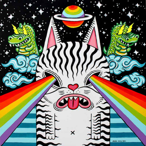alex chiu cosmic cat by art.alexchiu on Flickr.