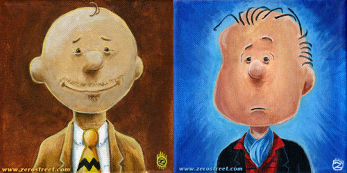 I'm 2 paintings in on my Peanuts Grown-up series.MR. BROWN has sold. LINUS VAN PELT, ESQUIRE is available.