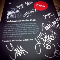 Tablatronics - our signed Apple Event poster