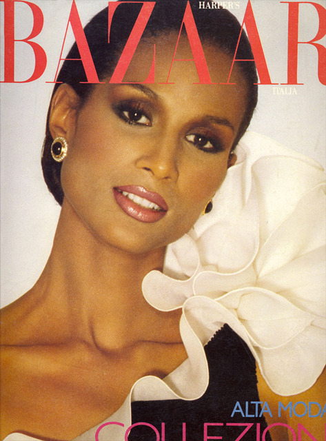 ♥ THIS COVER IMAGE! Beverly Johnson on the cover of Harper's BAZAAR Italia (from the 70s. BAZAAR Italia is not in circulation anymore)