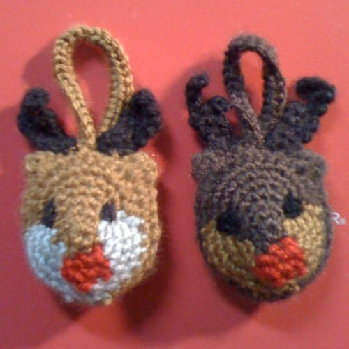 Which Rudolph do you like best? #helpme #handmade #crafts  (Taken with instagram)