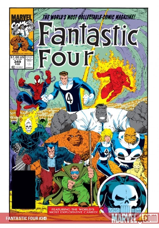 Art Adams theme: the final issue in the replacement Fantastic Four story, this is the cover to Fantastic Four #349.