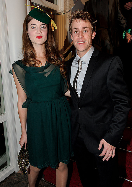 fanetjuh:  Niels Jacobs (Moq) and his Nessarose on the Première of Wicked!I love the fact that he wears blue and silver!!!!!!