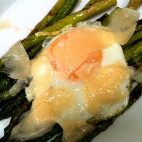 Grilled Asparagus, Fried Egg & Parmesan Reggiano (Taken with Instagram at La Villa)