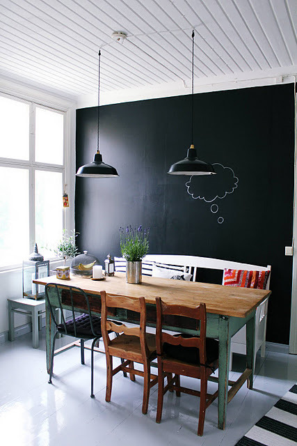 myidealhome:  another chalkboard wall (via my 2nd hand life)
