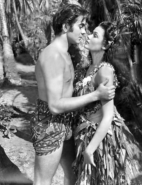 "Tyrone Power and Gene Tierney in ""Son of Fury"" 1942"
