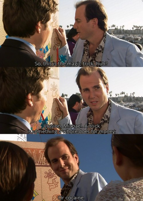 Arrested Development, we've missed you. Equally missed - Gob's 'magic'