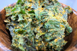 motherorganica:  Baked Kale Chips  Love these as substitute for corn chips (most of which are made with GMO corn)