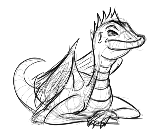 Quick dragon sketch, because dragons are awesome