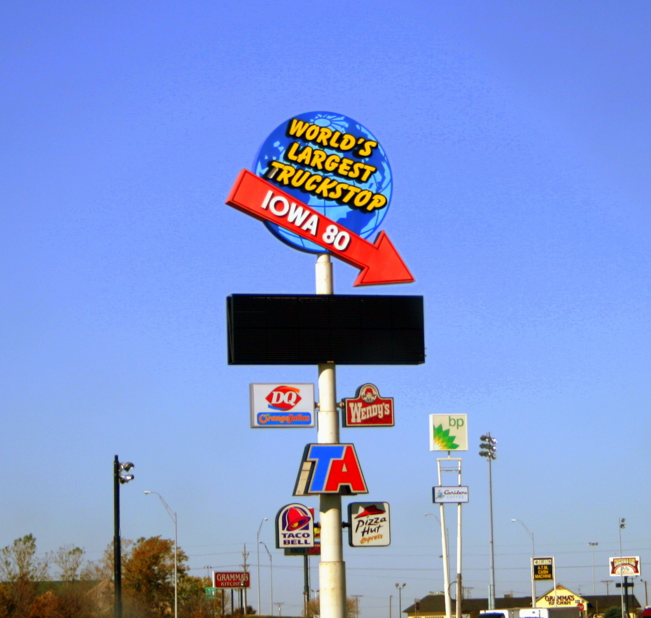 Largest truck stop in the world, Iowa, USA. October 2011