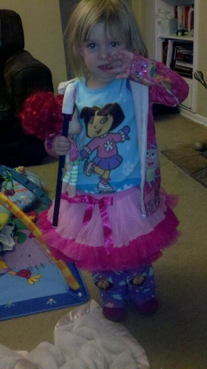 "fashionprincesslolo:  Lolo is rocking some Winter Dora Jammies (Lolo is a huge fan of her Amiga Dora), a pink tutu, Dora sweater, and pink boots from Target. She's also got her ""Bawberry"" shortcake doll and cat paw pointer (she got from the scholastic book fair at the school her older sisters go to) for accessories.    Guys, my friend's daughter has better fashion sense than ANYONE. She has a tumblr. Follow it. Seriously."