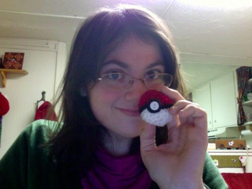 I made a pokeball! Modified this pattern.