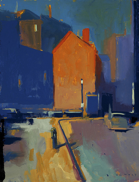 maxi-malist:  Orange Building 32x24 by William Wray on Flickr.  I appreciate the blocks of color here.