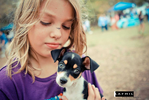 This is a shot from our 2 million dogs Puppy Up! event in San Antonio, we raised the most money for the event in the nation—thank you San Antonio!!! lafmilphoto:  Puppy Love