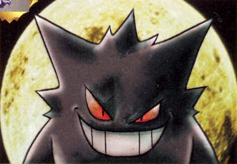pokemon-tcg-art:  Sabrina's Gengar (Gym Challenge) Illustrator: Ken Sugimori  Used to fuck bitches up with this card.