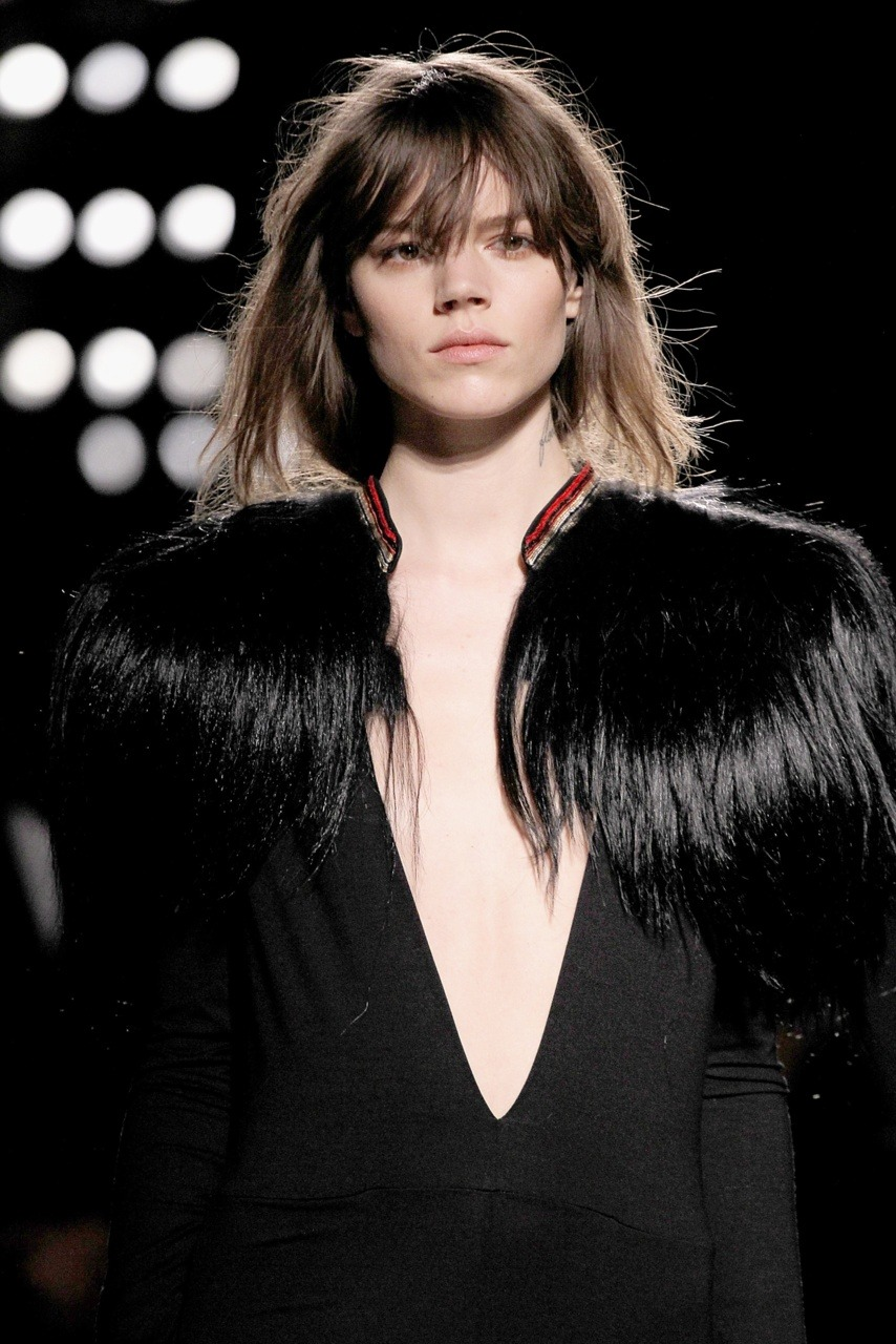 Freja rocking the catwalk of Balmain fw12.