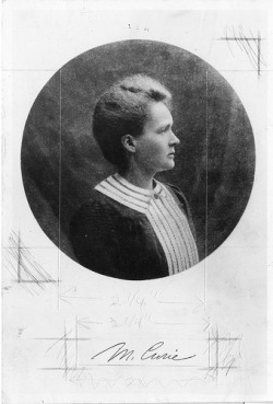 Happy Birthday, Marie Curie. Marie Sklodowska Curie (1867-1934) Description: Polish physicist Marie Sklodowska Curie (1867-1934) was the first woman to be awarded the Nobel Prize in physics, sharing it with her husband Pierre in 1903 for their work on radioactivity. After his death in 1906, she continued with her research and was awarded the Nobel Prize in chemistry in 1911 for contributions to that field. [by Smithsonian Institution]   Marie Cutie