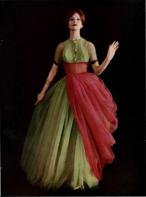 Gres Gown - 1959 L'Officiel De La Mode - 443-444