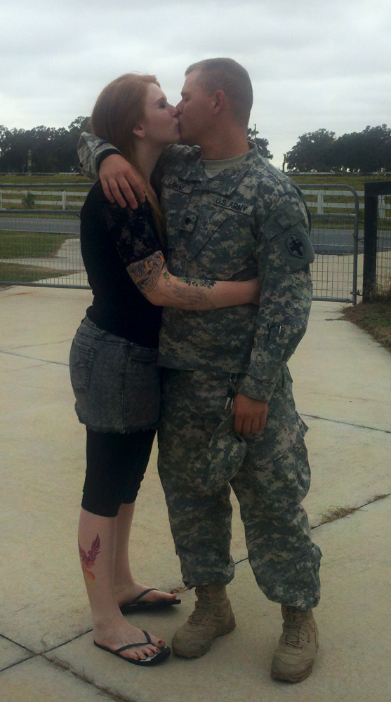 My soldier and I. <3