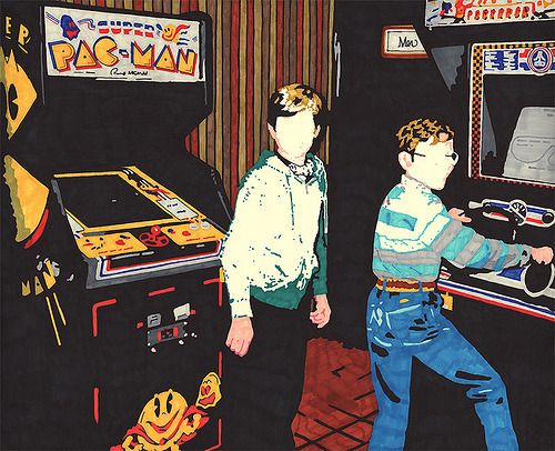 theawkwardgamer:  Pole Position // Artist: Hollis Brown Thornton