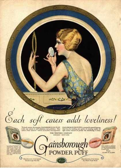 ladylikeladyads:  Pampering Make-Up Gainsborough Face Powder, USA (1910)