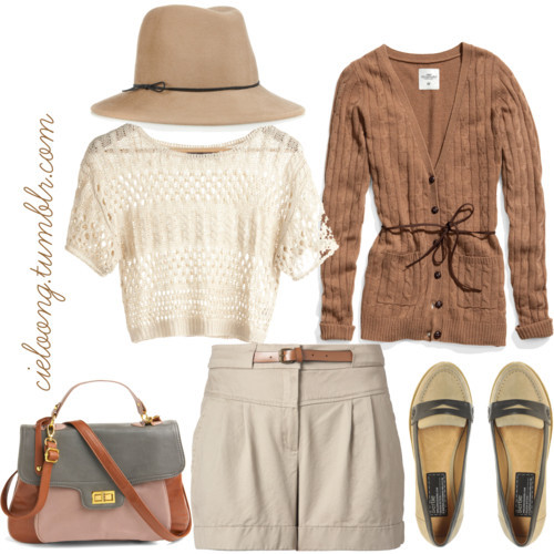 Going Brown by cieloong featuring crop tops