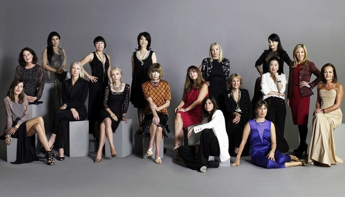 A Fashion First For the first time in history, all 17 international editors of Vogue were photographed together for Japan's fashion night out in Tokyo. Shot by photographer Frederic Aranda.
