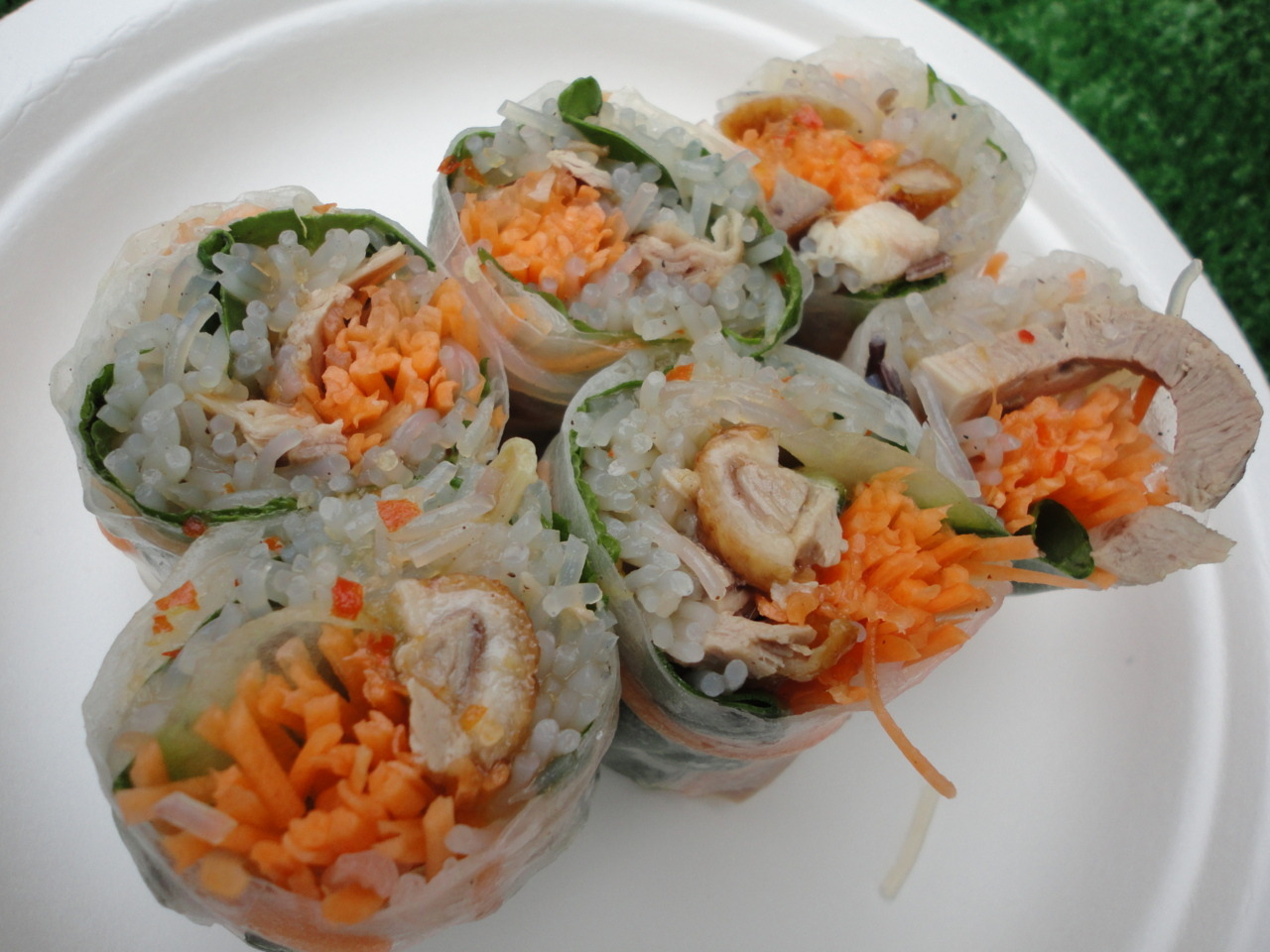 Monsoon Poon - Vietnamese summer rolls with five spice roasted south island duck.