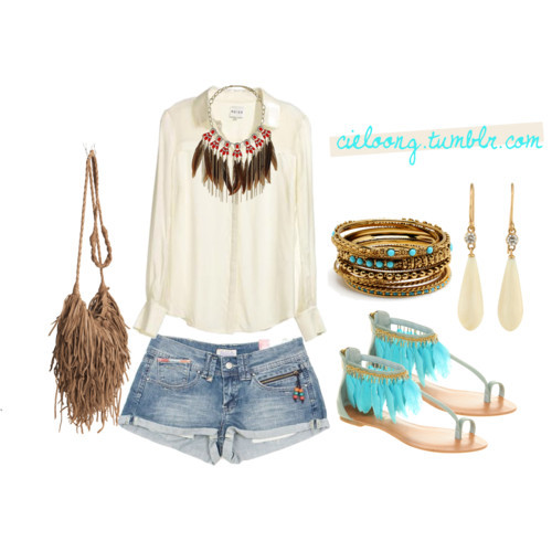 Boho-Chic by cieloong featuring strappy sandals