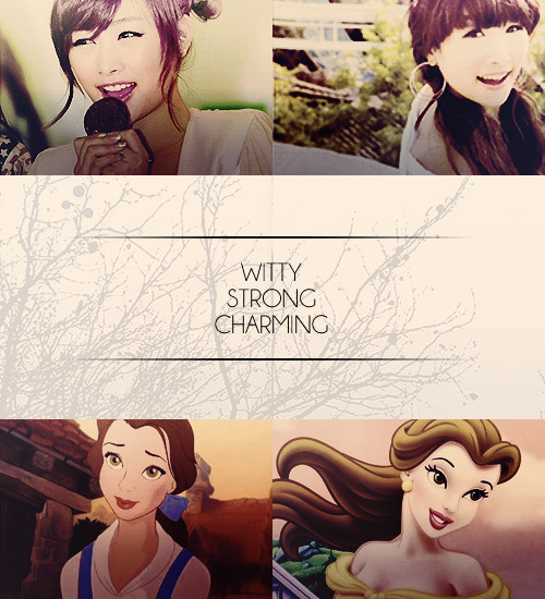 kara as disney princesses > nicole as belle belle has a witty and strong sense of character, and is able to use this trait in a variety of ways, even to her own advantage. she has a wide vocabulary, an active imagination, and an open mind. and although she is quite ignorant of her own beauty, she does somewhat manage to use her feminine charm to her advantage.