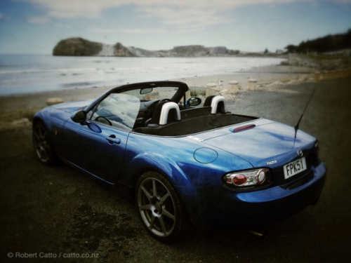 There's nothing like an MX-5 for driving in New Zealand. Castlepoint was great today, but the road there & back…even better.