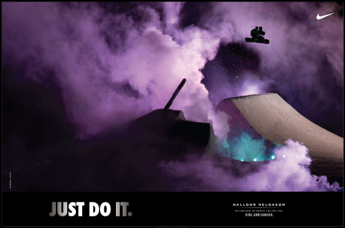 "frodesandbech:  ""Just do it"" ad with Halldor Helgason. Shot in Stranda, Norway."