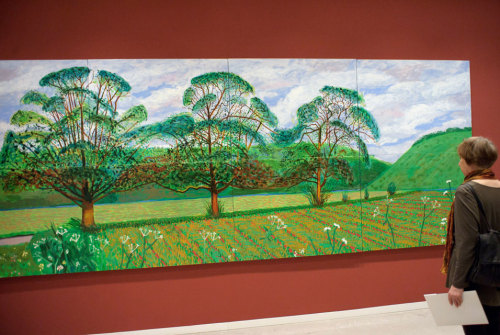 "One of my all time favorite,  David Hockney. ""Thee Trees"""