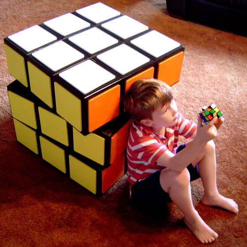 storagegeek:  DIY Rubik's cube chest of drawers : Instructables Check out this amazing piece of DIY! Each of the three levels has its own slide out drawer and sits on a lazy Susan for rotating. The author even takes you through his design process. This project is so inspiring, even if you do not take it to the level that he does.