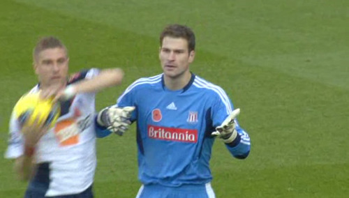 Asmir Begovic is sad that Bolton Wanderers are allowed to use their hands.