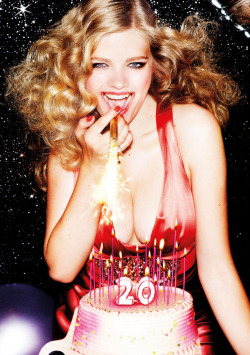 Valerie van der Graaf by Ellen von Unwerth for Lavazza 2012