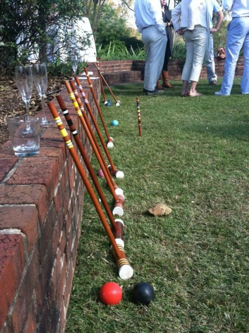 simoneink:  Cocktails and croquet at The Clifton Inn in Charlottesville.