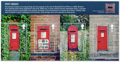 spellcrest:  Post Boxes Special  Issue Stamps: Aug 2009 by Post Box on Flickr.