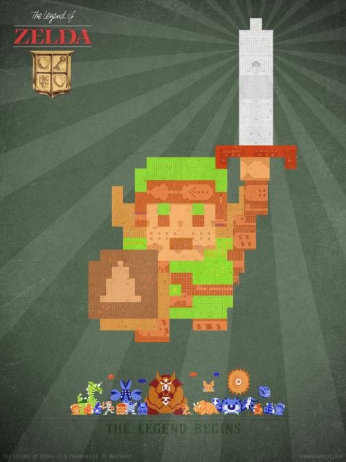 ge-ek:  8-Bit Encore: The Legend Of Zelda - by Thehookshot
