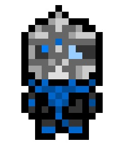 Garrus Vakarian, one of many recruitable party members for Shepherd's squad in Mass Effect.  Ruthless, violent, partly-cybernetic with a penchant for frontier justice. What's not to like ?
