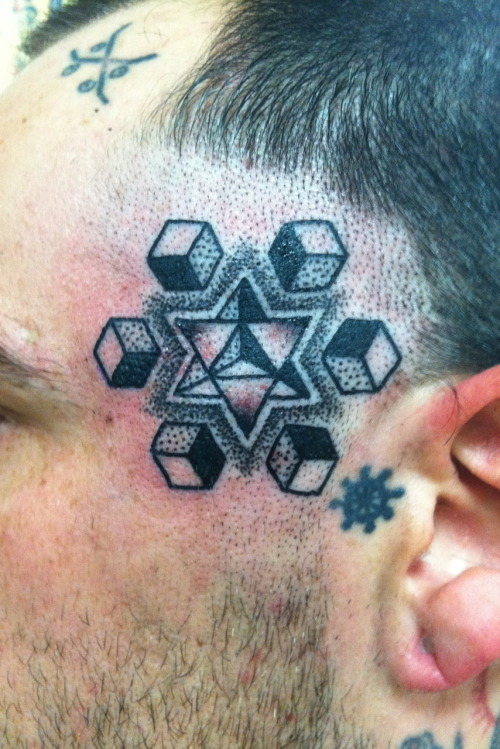 Merkabah dotwork Mike Bennett, Faith Tattoo, Santa Rosa, CA