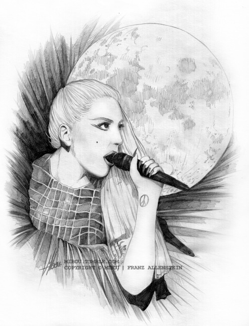 """Marry The Night"" live performance EMAs the moon likes a bit strange and in general it didn't turn out as planned but ok lol. too bad i didn't find a HQ version of this photo then maybe it would be a bit better xD 4h - pencils"